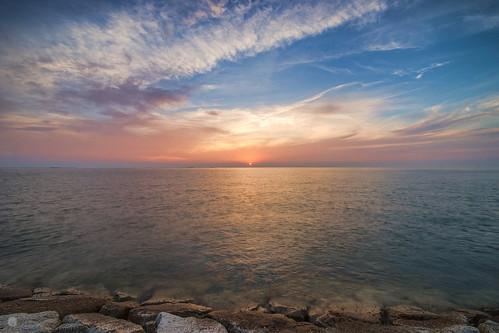 sunset sky seascape reflection japan cloudy sony sigma slowshutter aichi 1224mm isebay chitapeninsula slta99v
