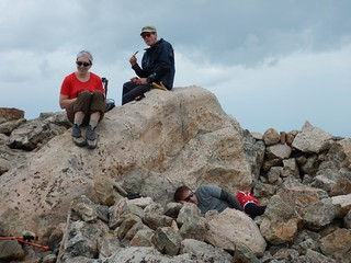 Clare, Marshall, and Fred on Mt of the Holy Cross