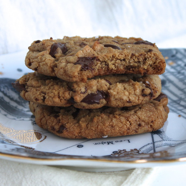 Sea Salted Chewy Chocolate Chip Cookies