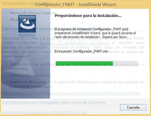 Renovar certificado - Descarga del configurador FNMT