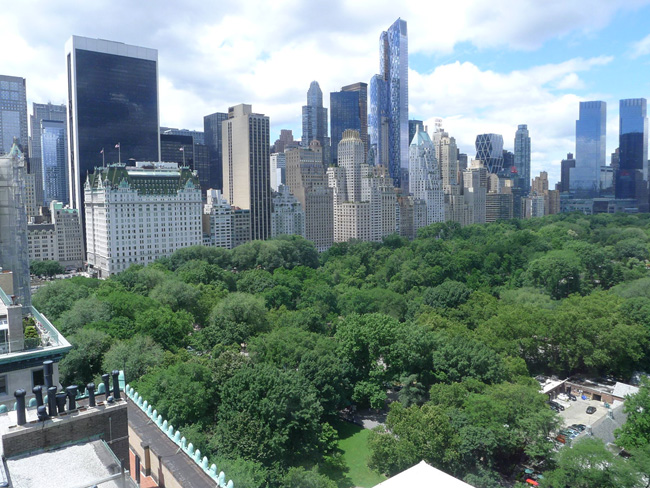 Above Central Park, nyc