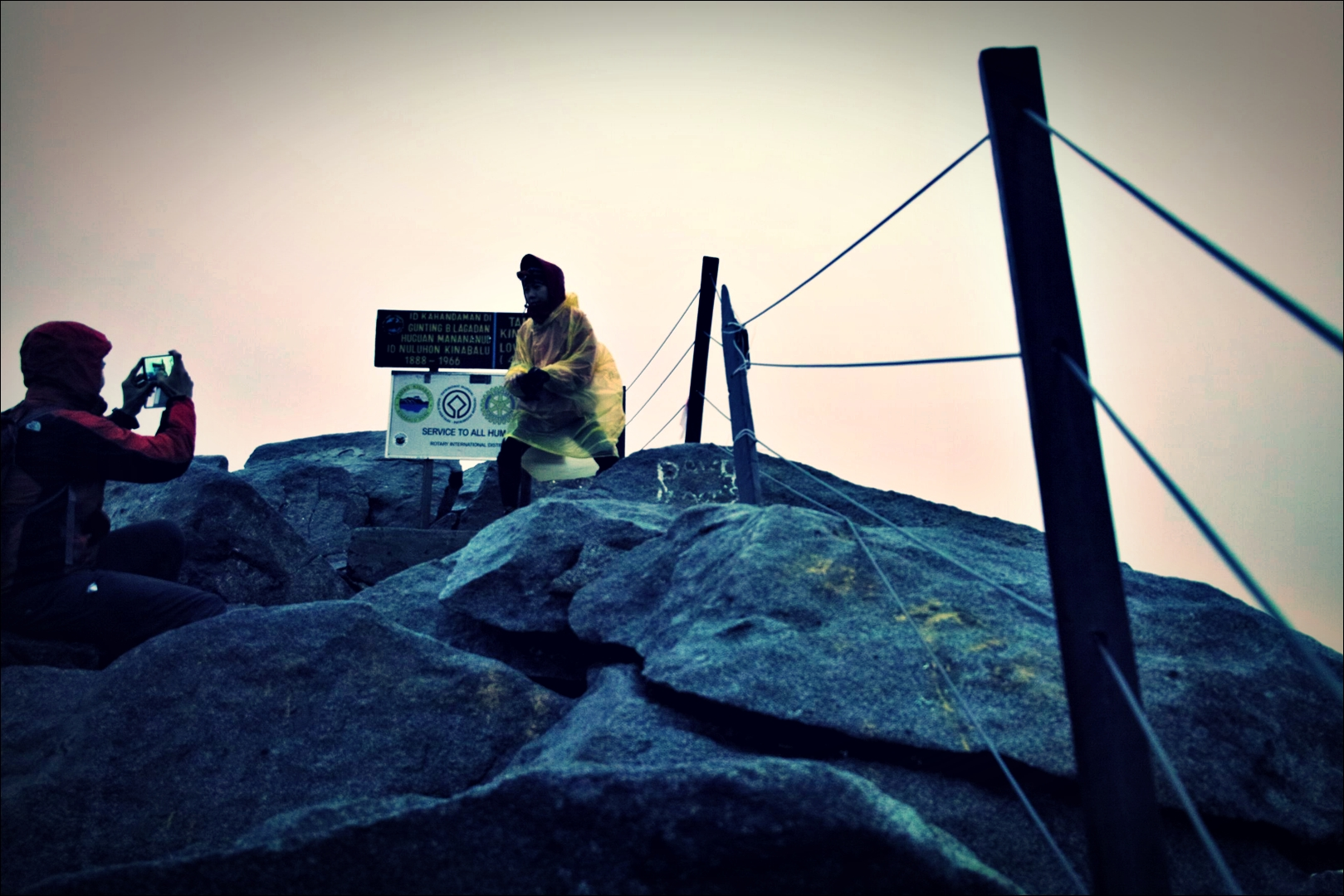 정상 인증샷-'키나발루 산 등정 Climbing mount Kinabalu Low's peak the summit'