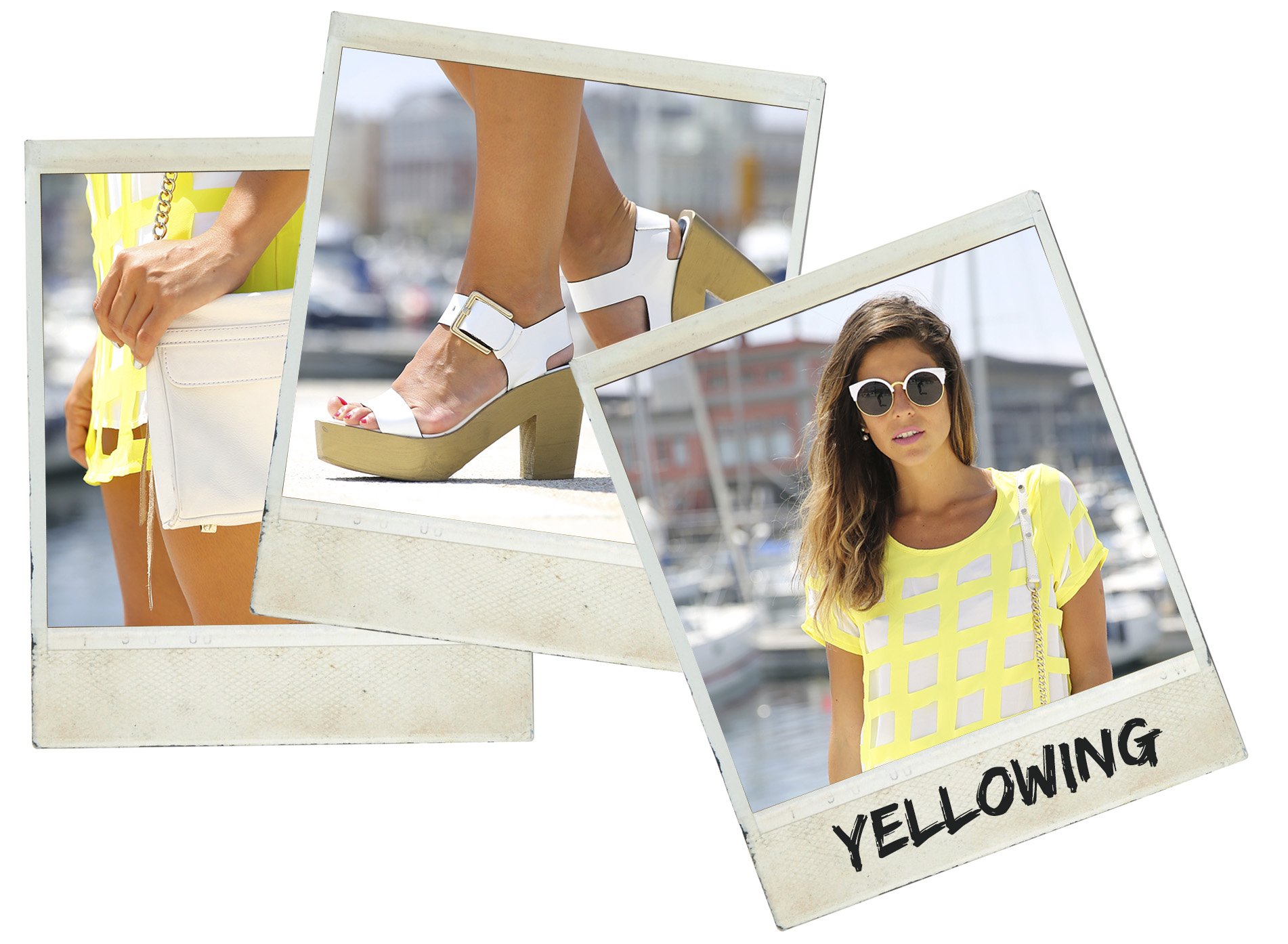 trendy_taste-look-outfit-street_style-ootd-blog-blogger-moda_españa-fashion_spain-coruña-galicia-sandalias_plataforma-platform_sandals-rebecca_minkoff-yellow-amarillo-vestido-dress-plaid-cuadros-polaroid