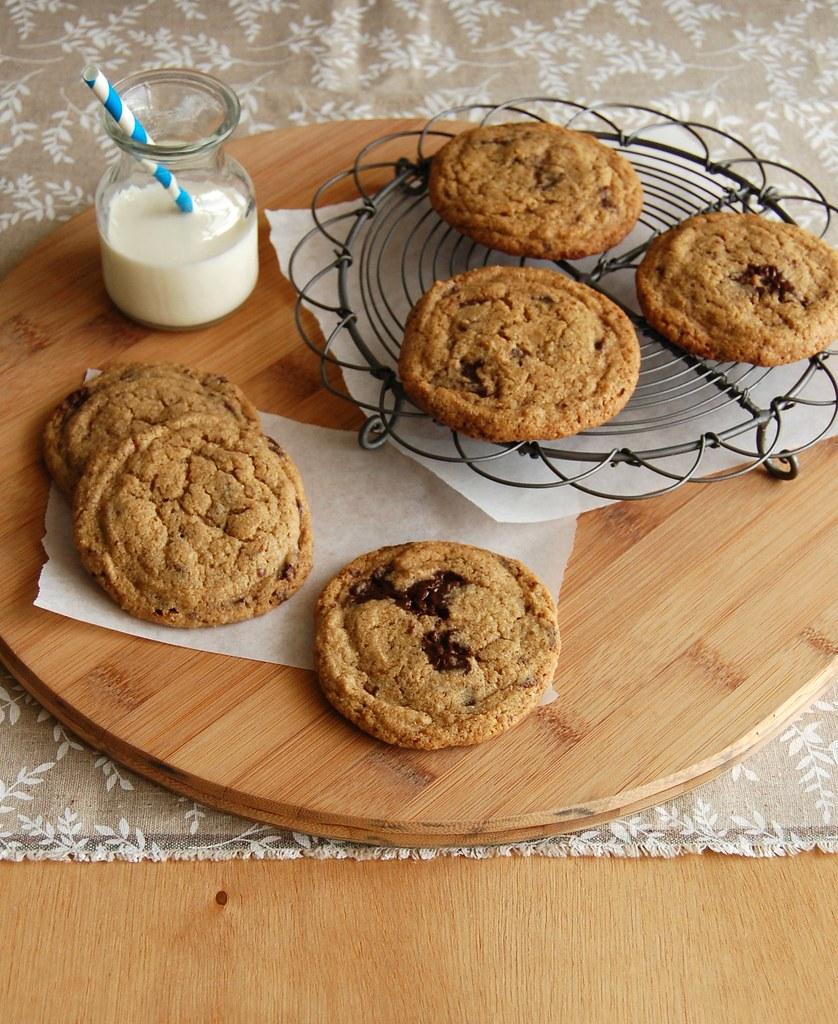 Amaranth choc chip cookies / Cookies com gotas de chocolate e farinha de amaranto