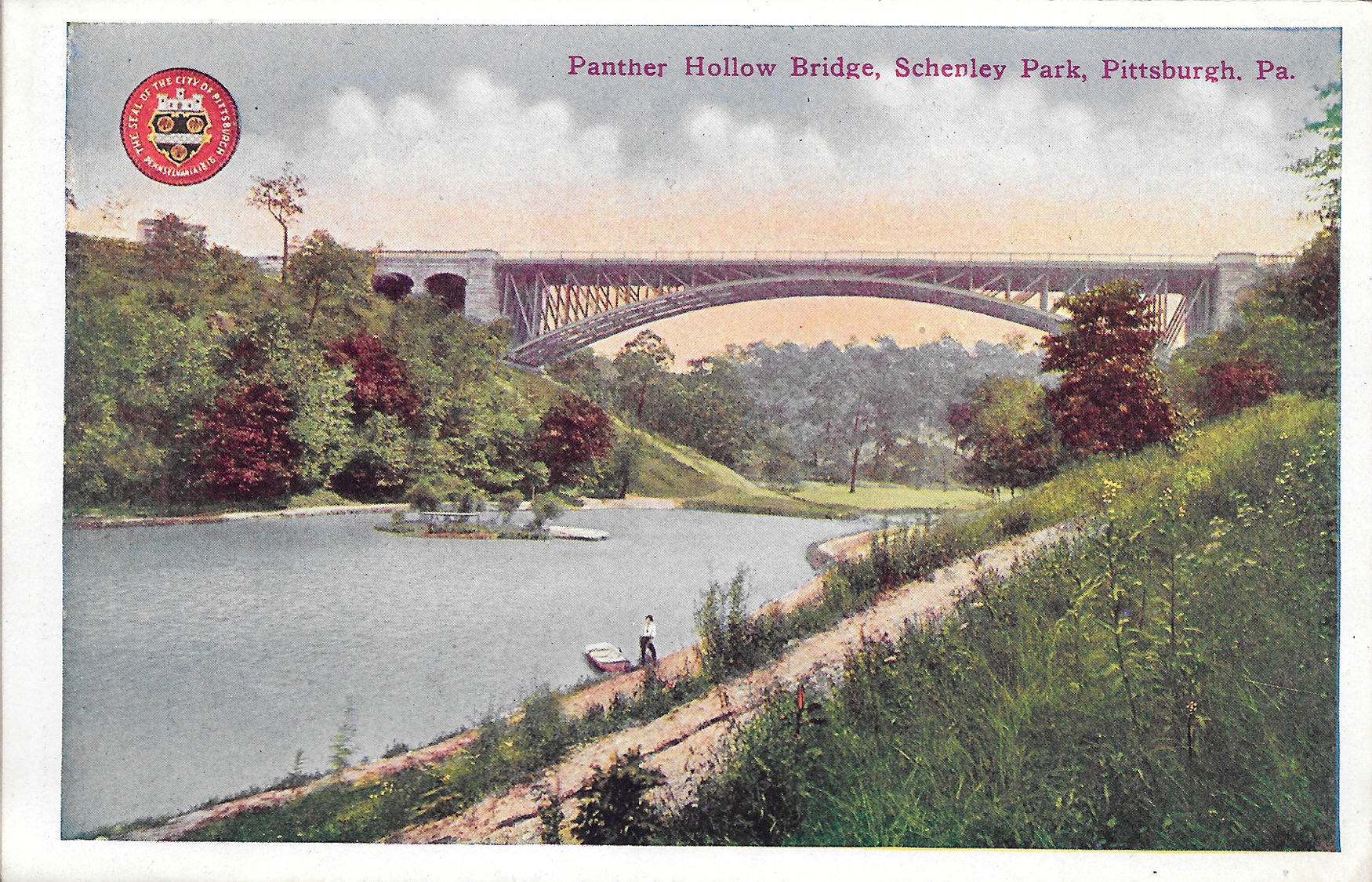 Postcard15-PantherHollowBridgeSchenleyPark
