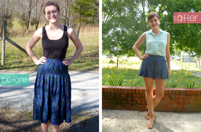 McCall's 6965 Skirt to Culottes Refashion - collage by Hey, It's SJ