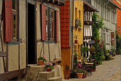 Half-timbering in Quedlinburg