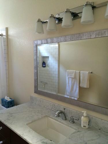 Bath vanity wall