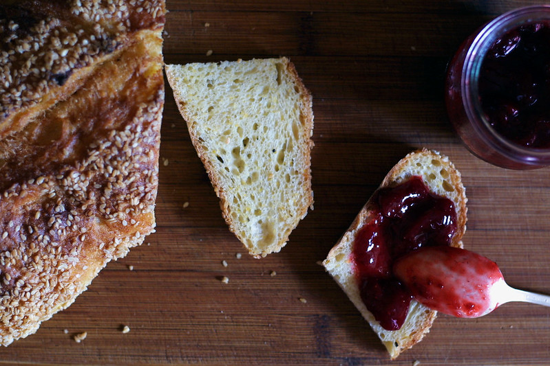 Jam and bread