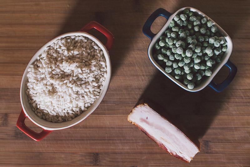 Risotto de Ervilha e Bacon