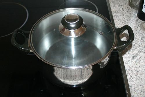 30 - Wasser aufsetzen / Bring water to boil