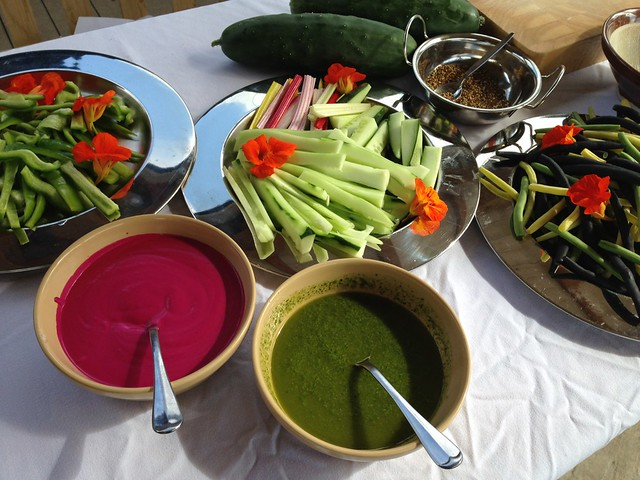 Beetroot Tzatziki & Salsa Verde