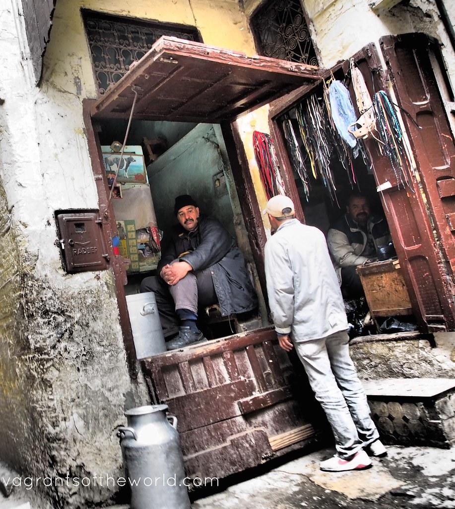 Shop Keepers in Fez el Bali Medina Morocco