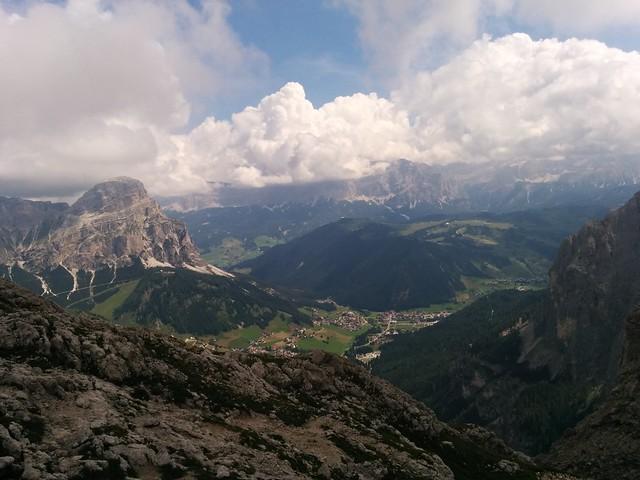 Ausblick Pisciadù Klettersteig