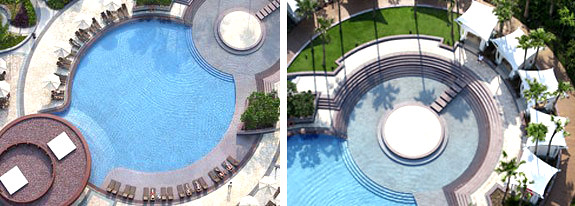 Hard Rock Hotel guitar-shaped pool