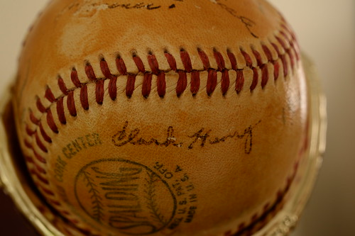 Clark Henry autographed baseball