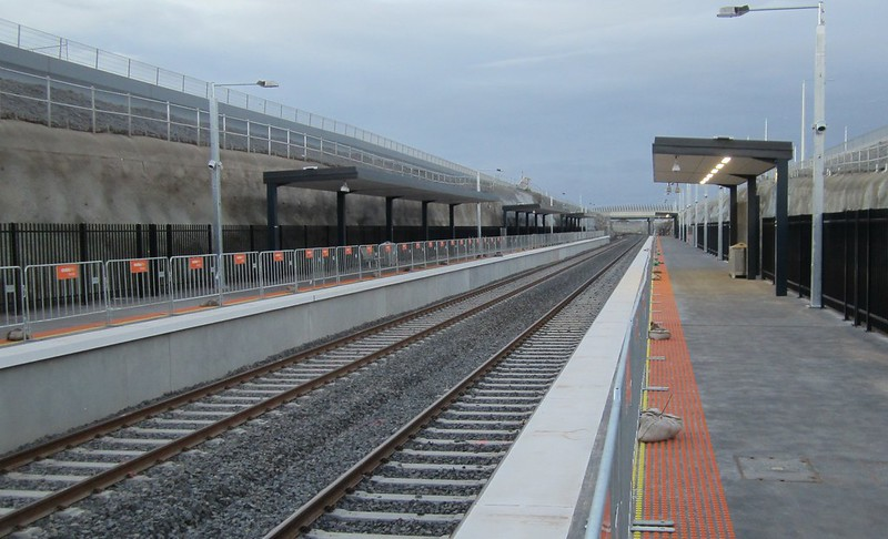 Wyndham Vale station, looking north