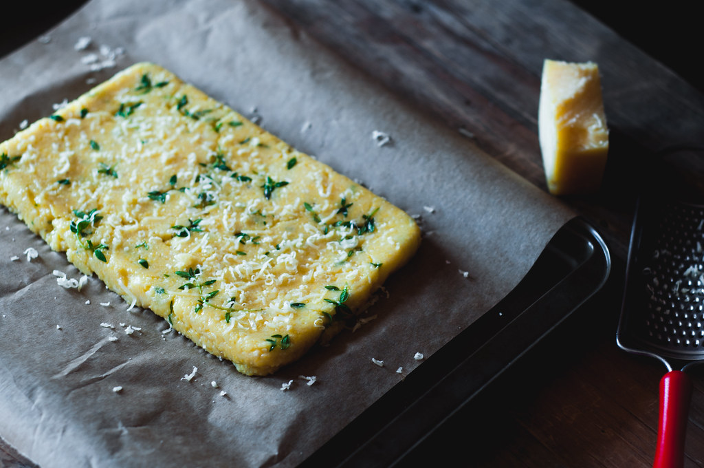 Baking Polenta as flatbread