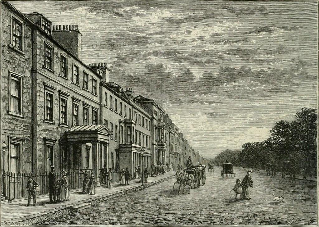 Rue du quartier de New town à Edimbourg en Ecosse (1880) - Image du internetarchivebookimages