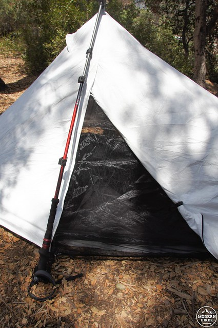Sublite Entrance Mesh Closed & Product Review: The Ultralight Sublite Tarp Tent | Modern Hiker