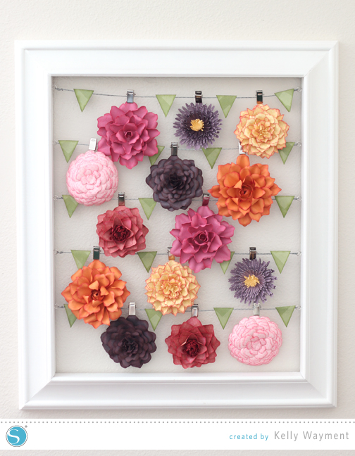 Flowers in Advent Frame by Kelly Wayment for Silhouette