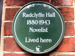 Photo of Radclyffe Hall green plaque