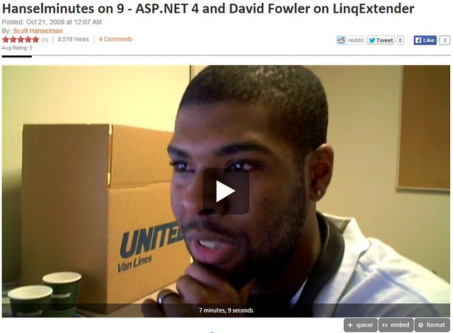 Hanselminutes on 9 - ASP.NET 4 and David Fowler on LinqExtender