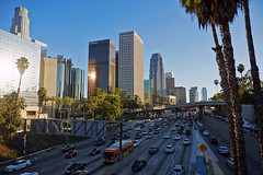 Downtown L.A. and Harbor Freeway
