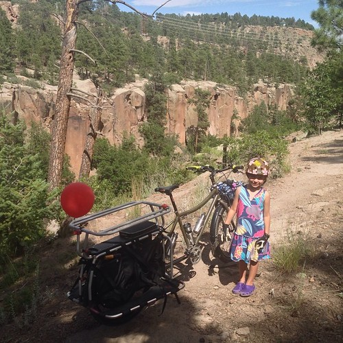 More mountain style bicycling on the big dummy #bigdummy #surly #xtracycle #hooptie #losalamos #nm