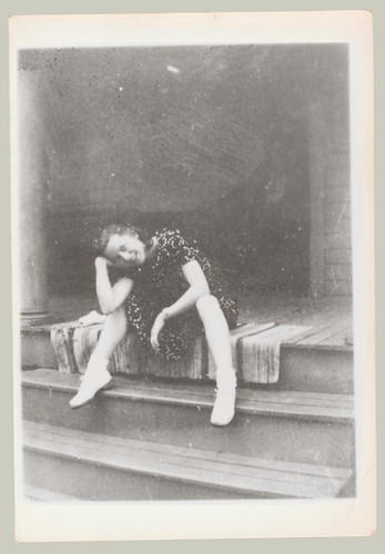 woman sitting on steps