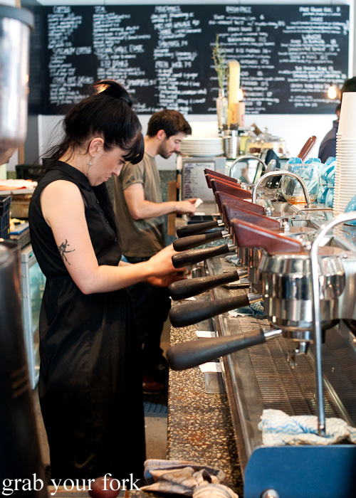 Six-group customised Synesso espresso machine at Proud Mary Coffee in Collingwood, Melbourne