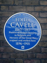 Photo of Edith Cavell blue plaque