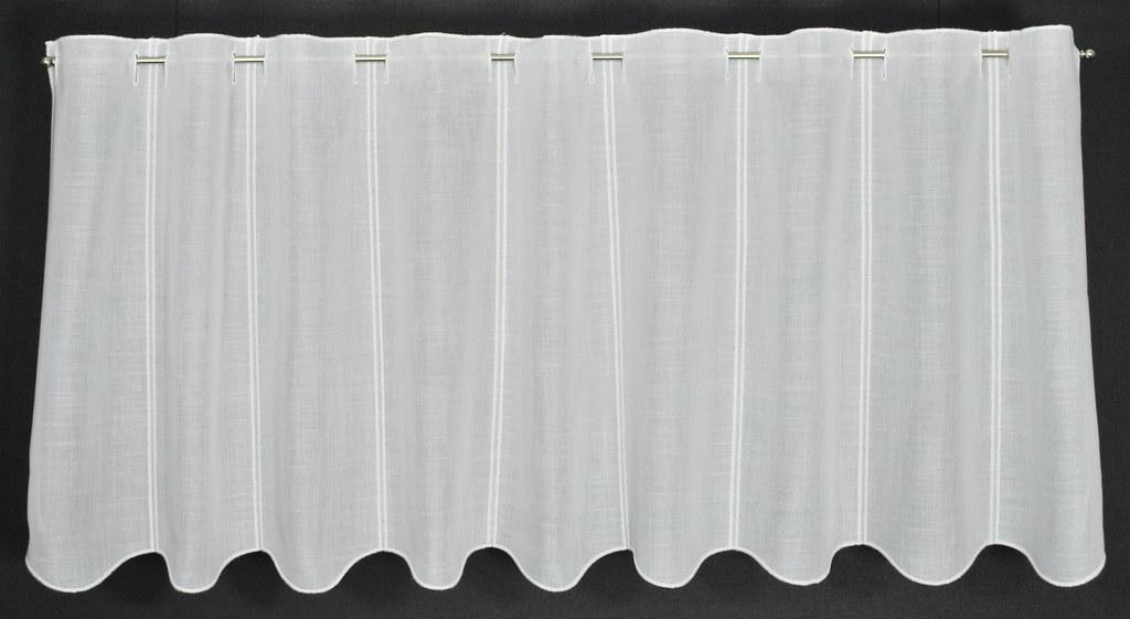 Scheibengardine Käseleinenoptik 50x16 Weiß Gardine Nach Maß