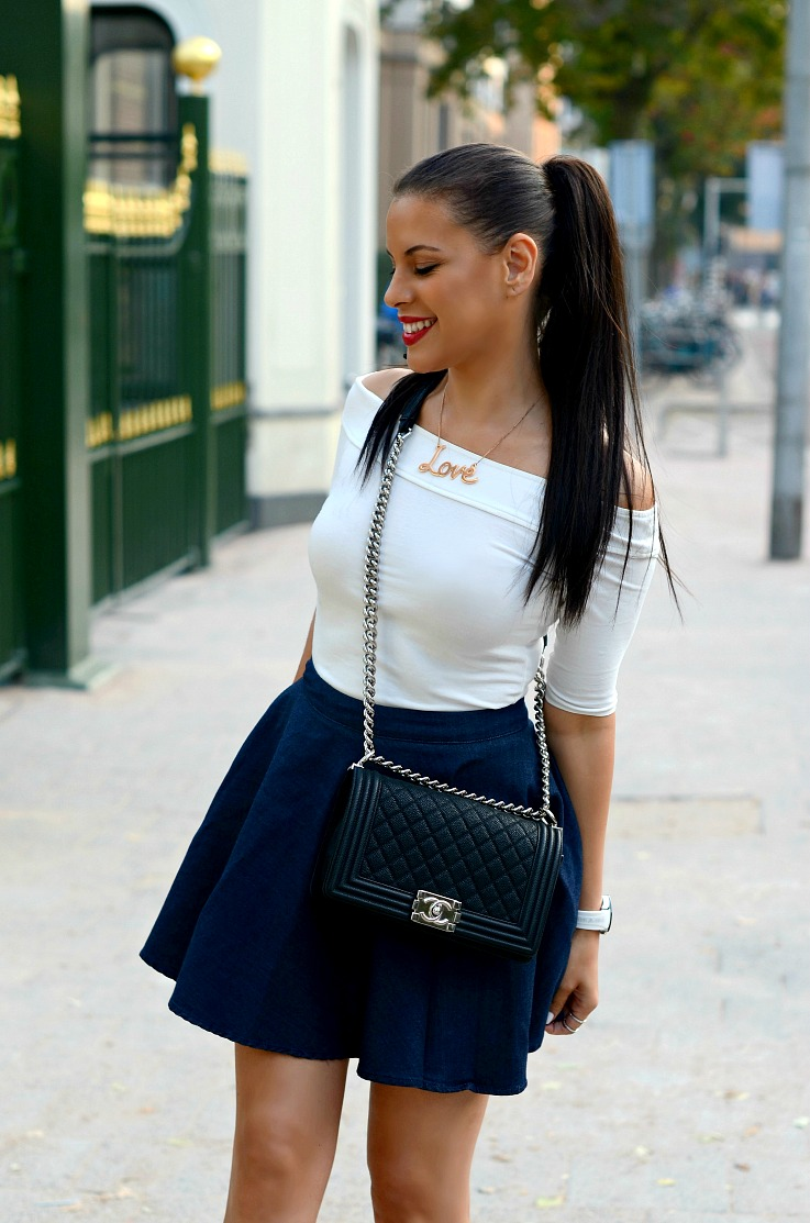 DSC_3985 Chanel Boy Bag, Zara skirt, River Island Top
