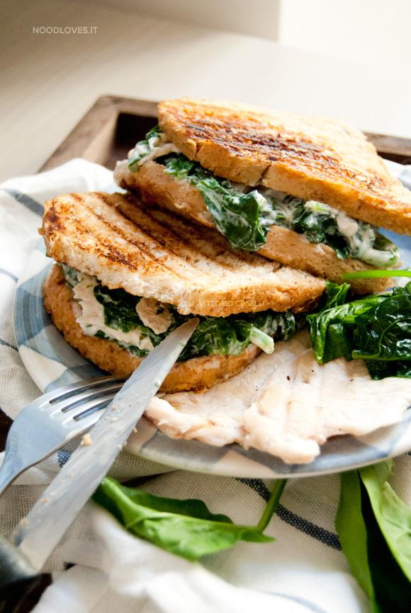 Sandwich al pollo con spinaci 3