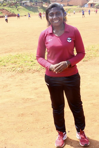 Majidah Nantanda is Uganda's first female national coach for the country's  women's football team. Credit: Amy Fallon/IPS