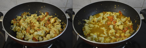 How to make cauliflower kurma