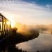 Foggy Sunrise by Alanpaone