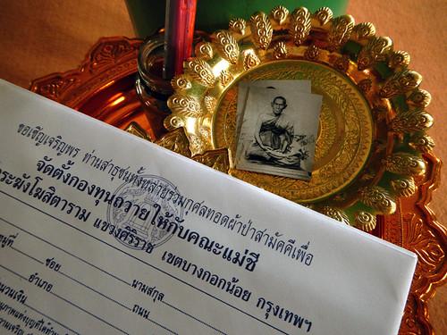 Buying Buddha at a Bangkok Wat