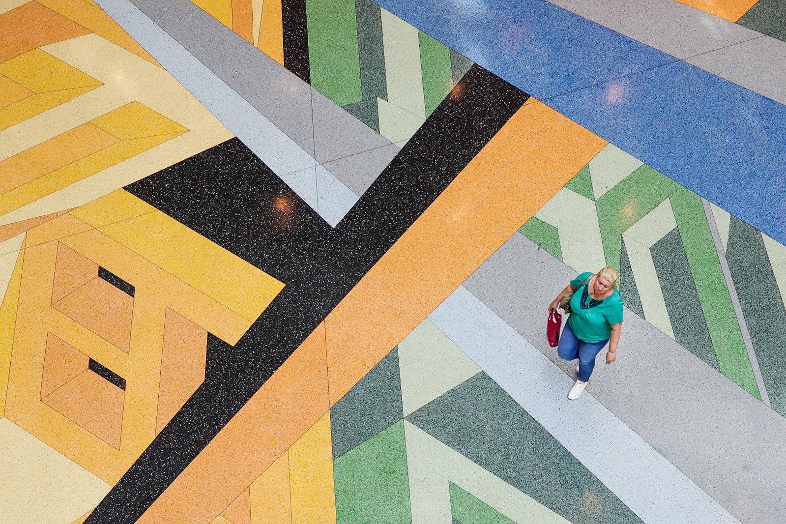 Architecture à Berlin - Les mosaïques du nouveau centre commercial Alexa