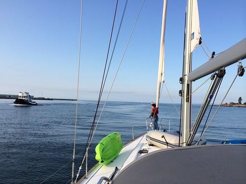 Leaving Victoria harbour