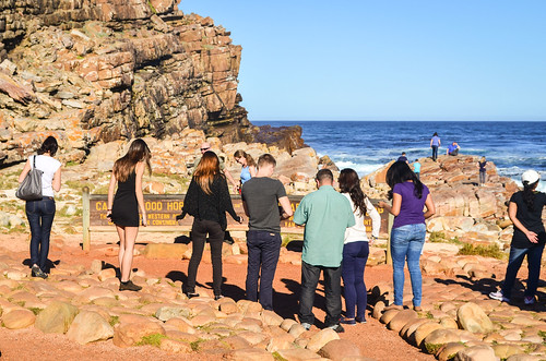 Queuing for the photo at the cape of Good Hope