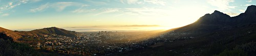 travel panorama sunlight nature sunshine sunrise landscape capetown tablemountain lionshead