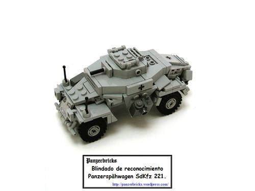 Leichter Panzerspähwagen SdKfz 221 de Panzerbricks