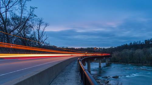 bridge fence westvirginia lighttrails appalachiantrail shenandoahriver