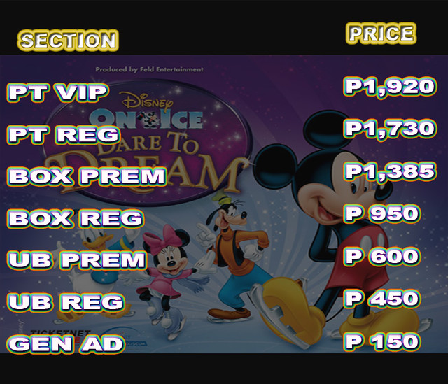 Disney on Ice  2014 ticket pricing