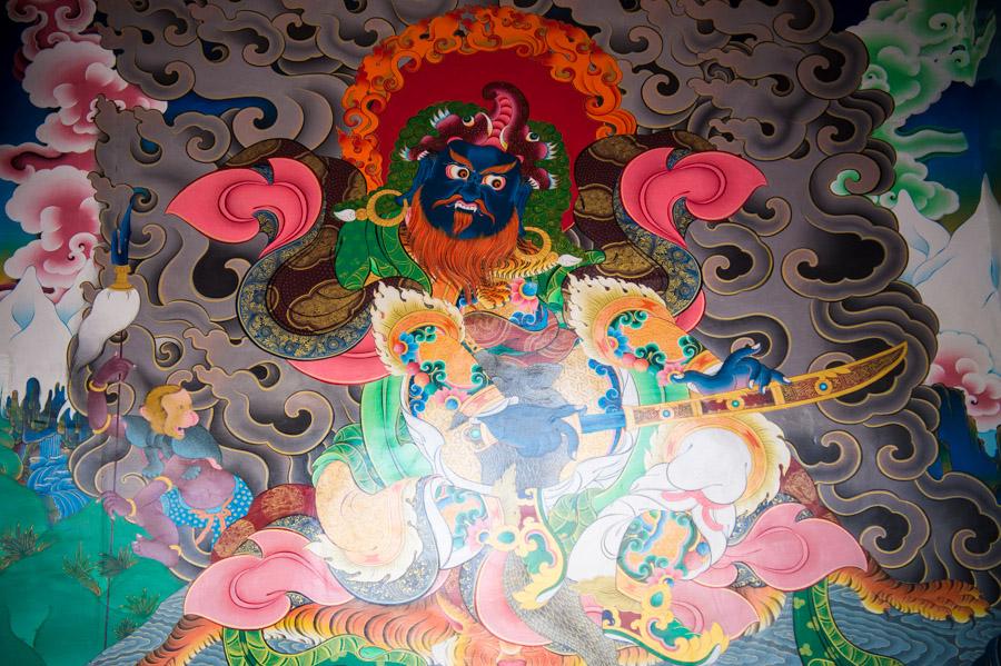Росписи на стенах при входе в Тангсте гомпу. Монастыри Ладакха (Монастыри малого Тибета) © Kartzon Dream - авторские путешествия, авторские туры в Ладакх, тревел фото, тревел видео, фототуры