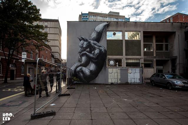 Bristol Street Art Mural by Belgian street artist ROA