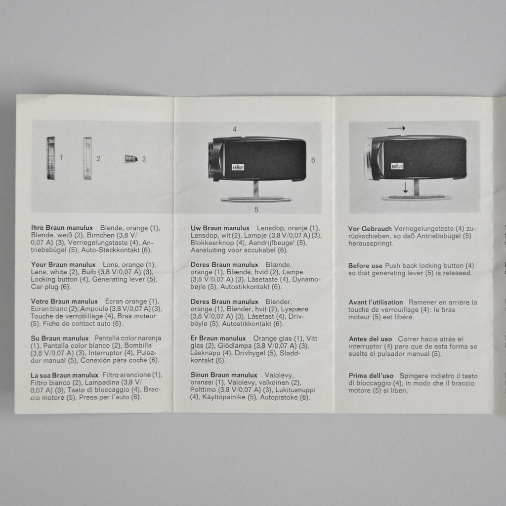 Braun manulux DT 1 | Hans Gugelot 1964 www dasprogramm org