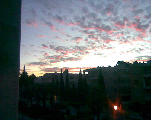 sunset partlycloudy idlib